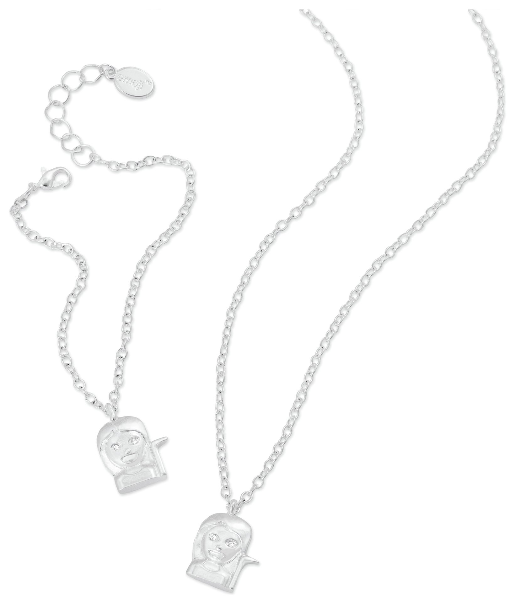 Image of Emoji Sassy Pendant and Bracelet Set