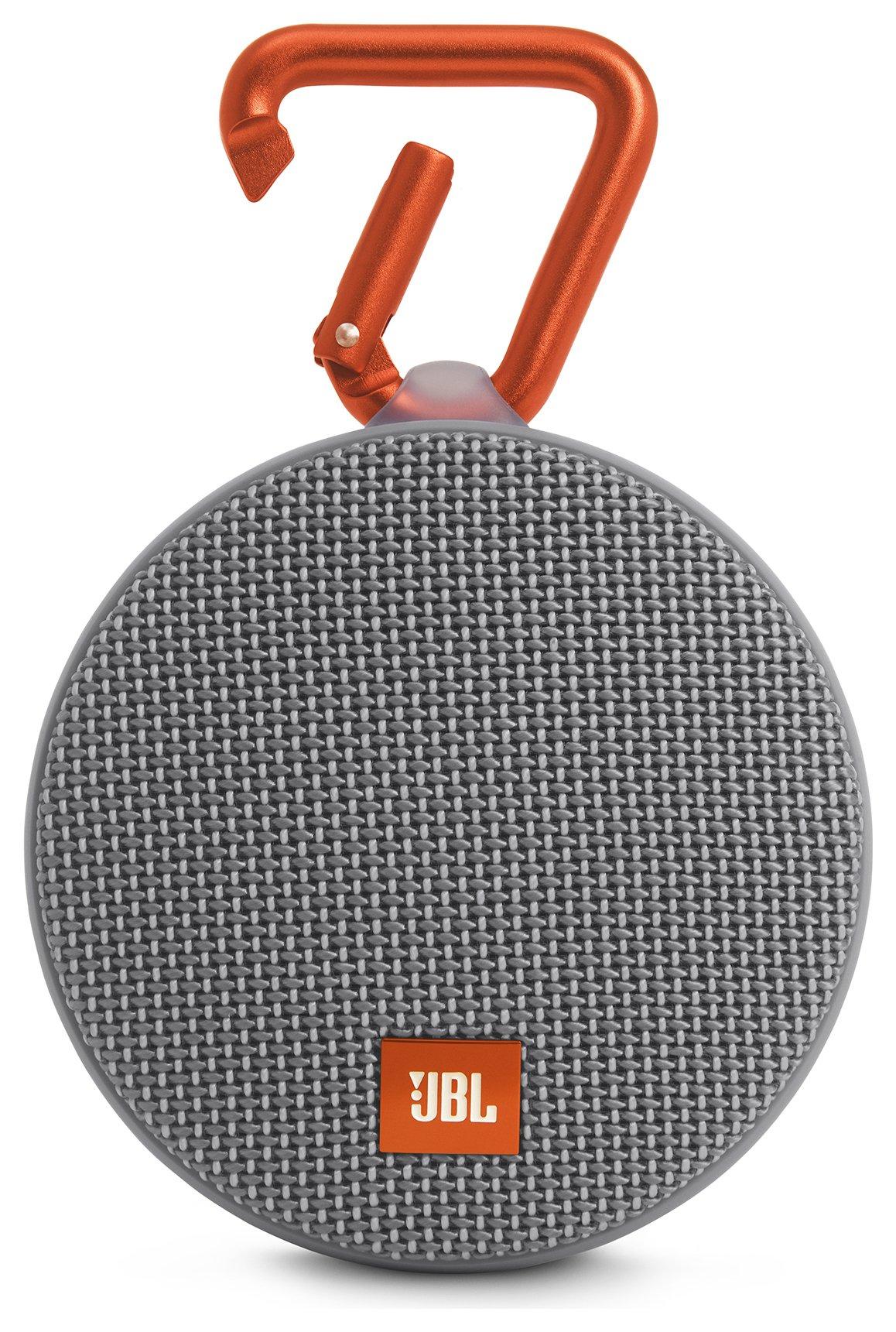 JBL Clip 2 Waterproof Portable Speaker - Grey