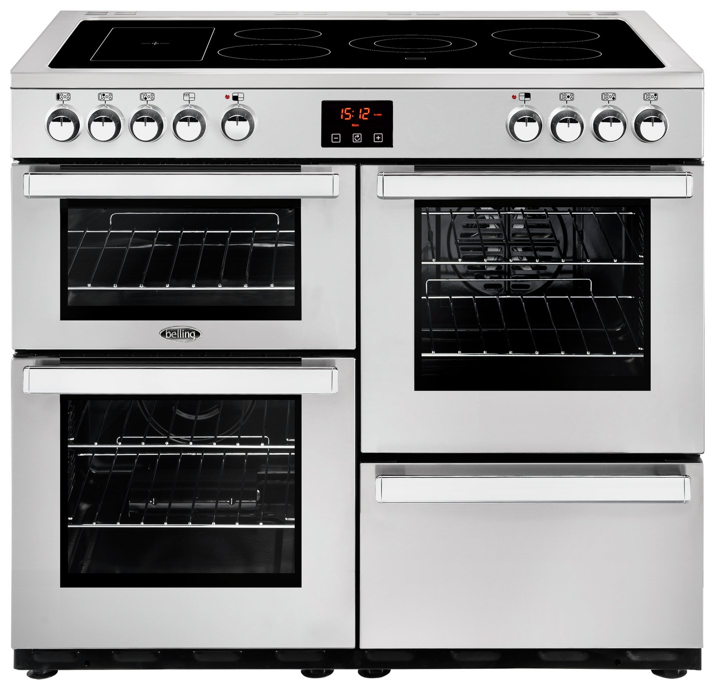 Belling Cookcentre 100E Electric Range Cooker - S/ Steel
