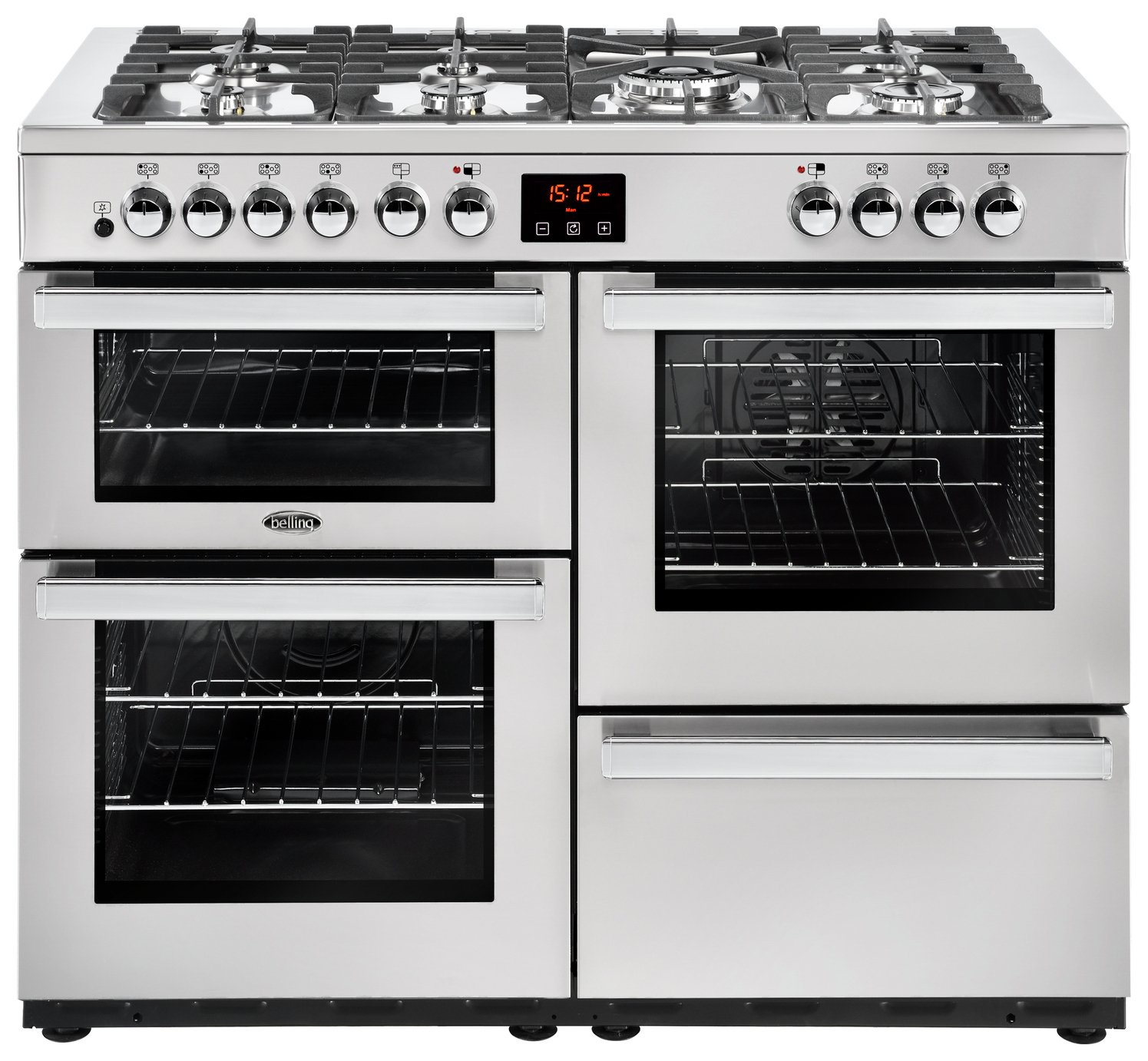Belling Cookcentre 110DFT 110cm Range Cooker - S/ Steel