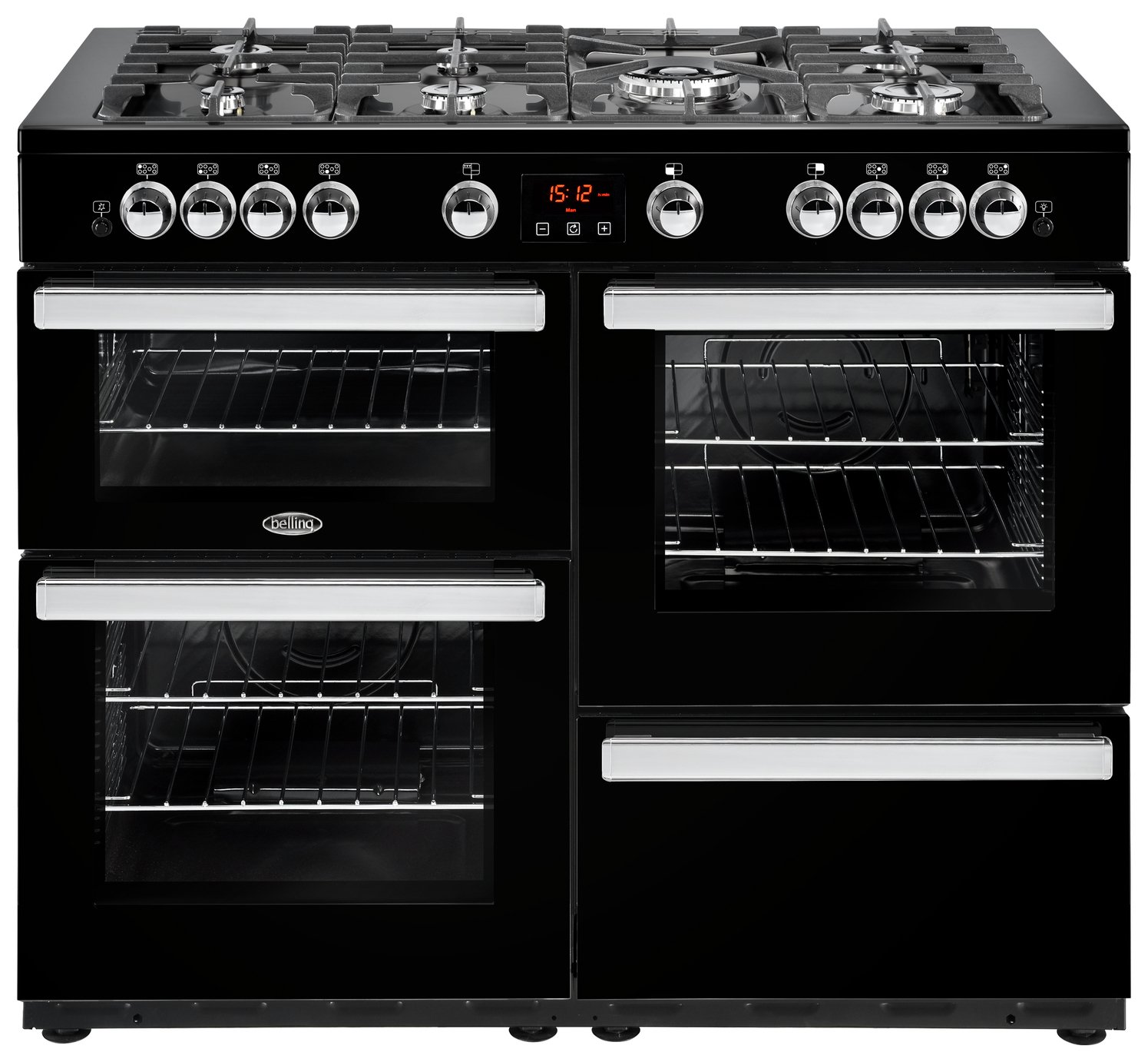 Belling Cookcentre 110G 110cm Gas Range Cooker - Black