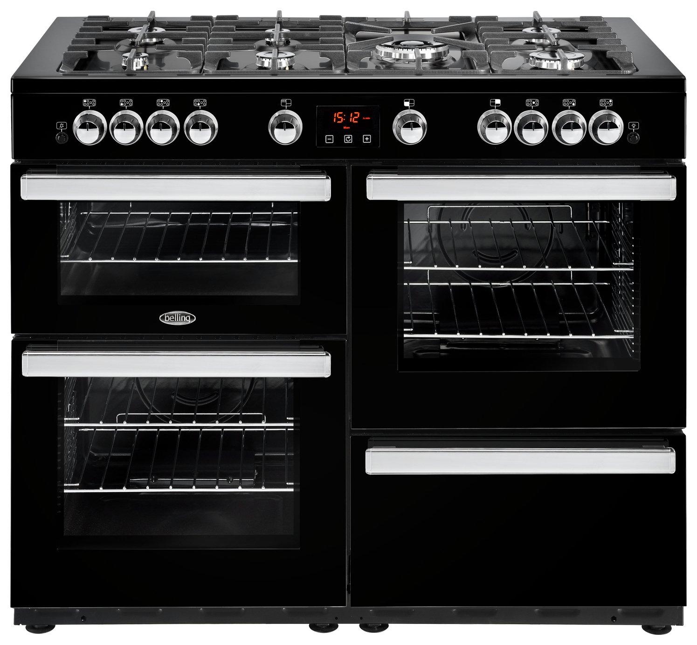 Belling Cookcentre 110G Gas Range Cooker - Black.