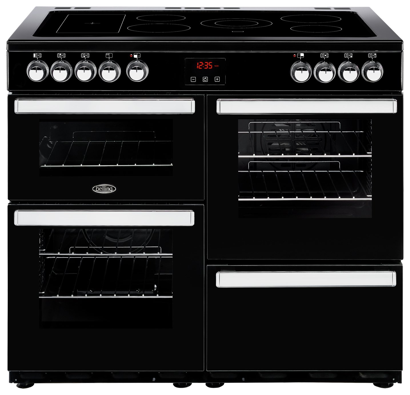 Belling Cookcentre 100E Electric Range Cooker - Black