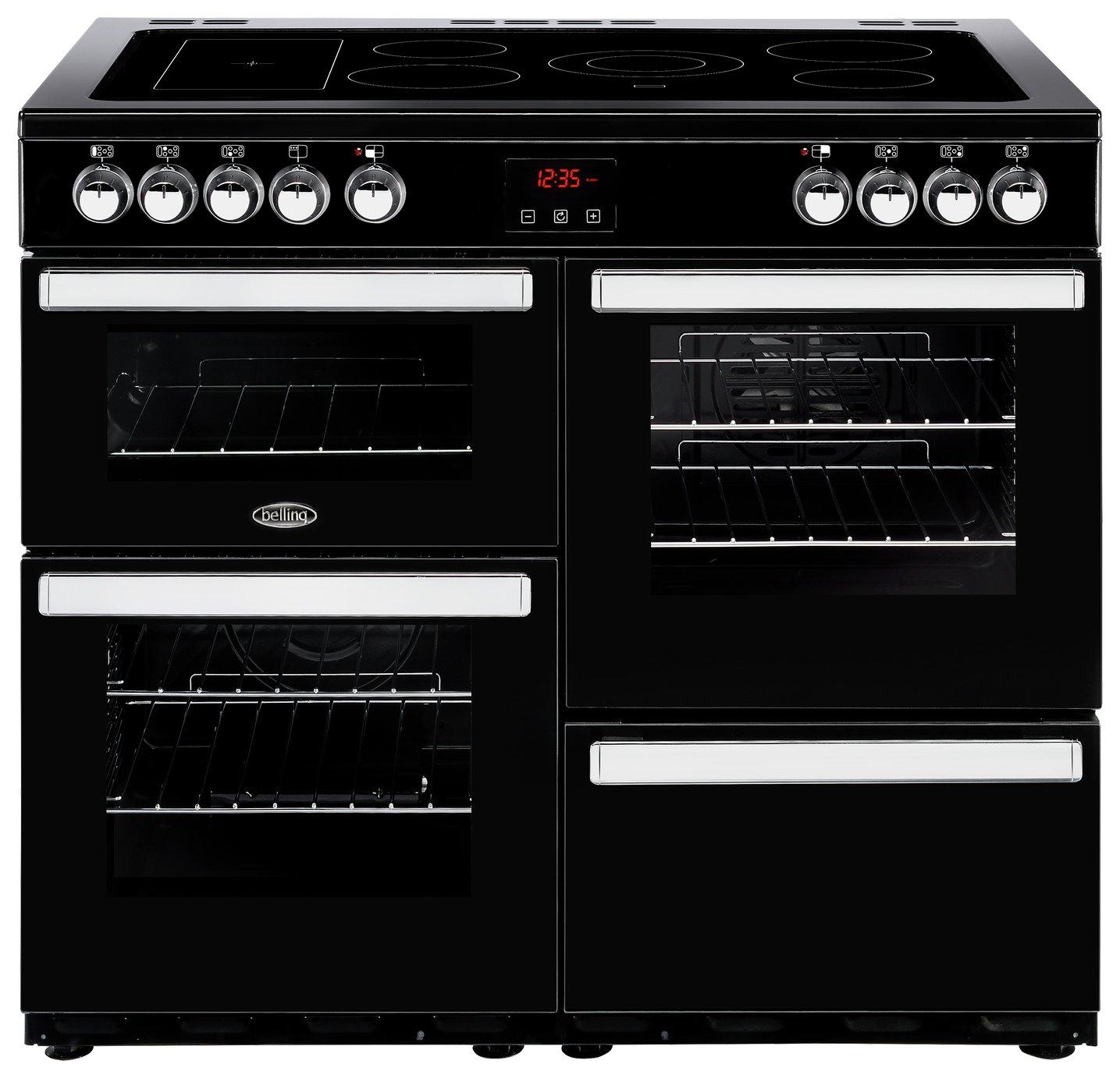 Belling Cookcentre 100E 100cm Electric Range Cooker - Black