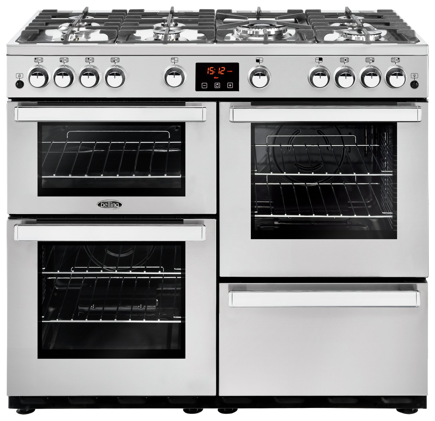 Belling Cookcentre 100G 100cm Gas Range Cooker - S/ Steel