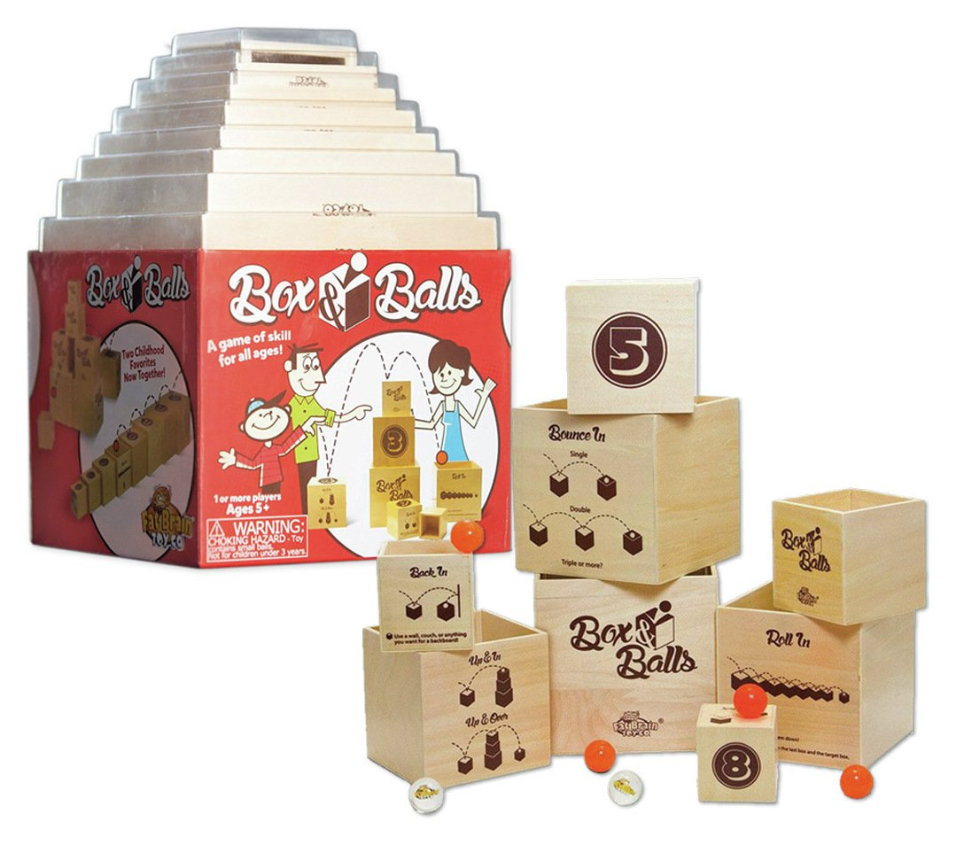 Image of Fat Brain Toys Box and Balls Game.