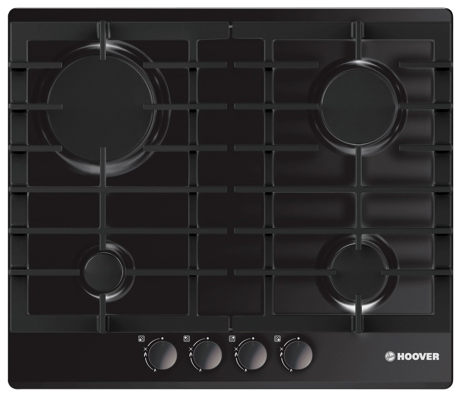 Image of Hoover HGH64SCEB Gas Hob - Black