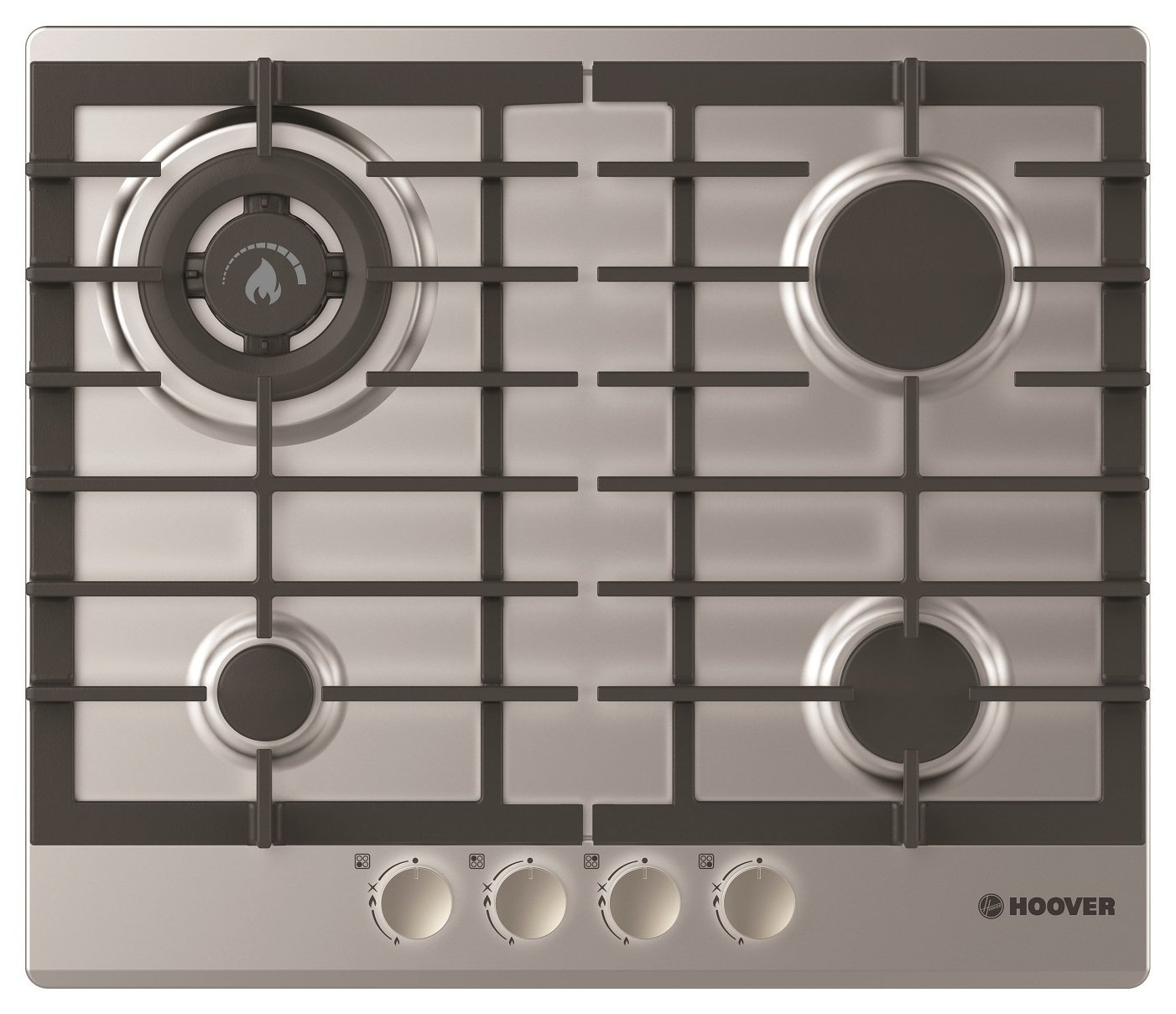 Image of Hoover HGH64SDWCEX Gas Hob - Stainless Steel