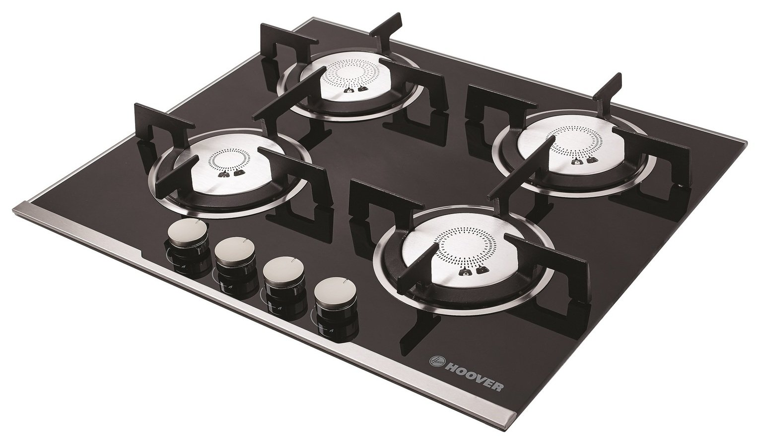 Image of Hoover HGV64SXVB Gas Hob - Black