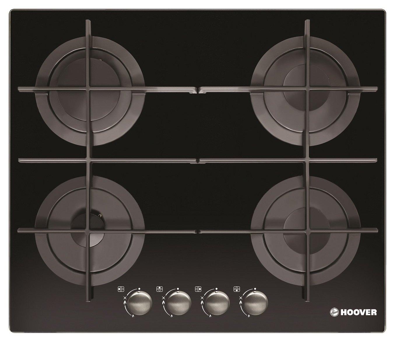 Image of Hoover HGV64STCGB Gas Hob - Black