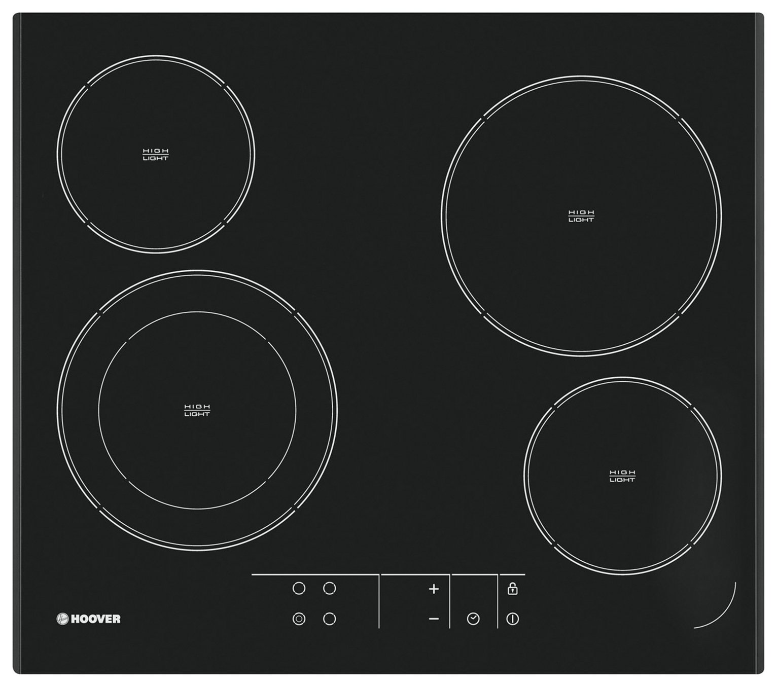 Image of Hoover HVE642 Ceramic Hob - Black