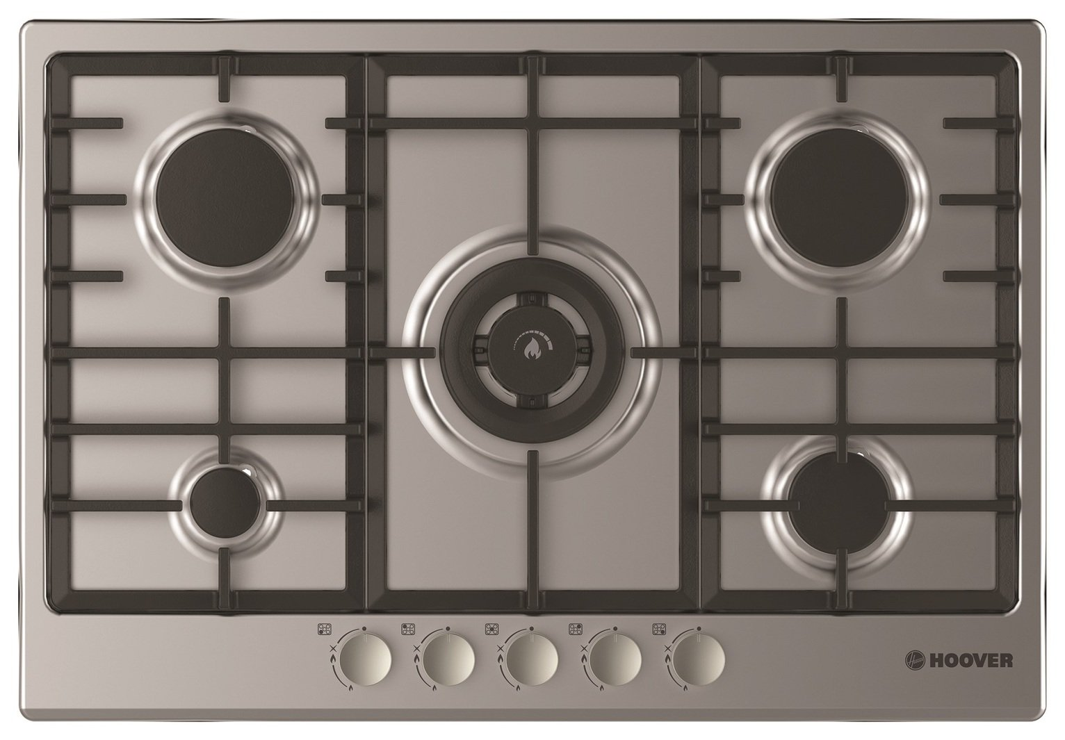 Image of Hoover HGH75SWCEX Gas Hob - Stainless Steel