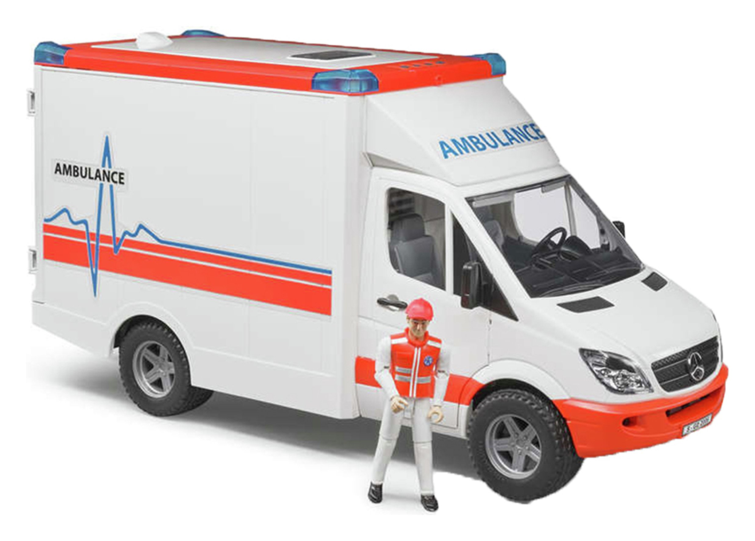 Image of Bruder Mercedes-Benz Ambulance with Driver