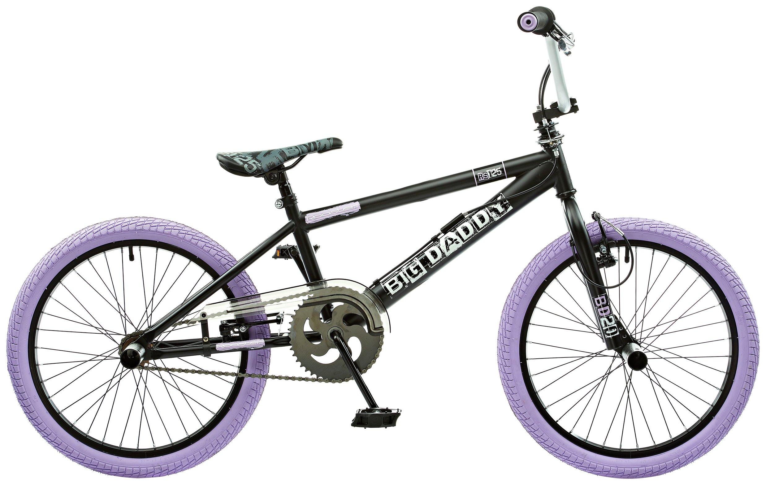 'Rooster Big Daddy 20 Bmx Bike - Black & Lilac