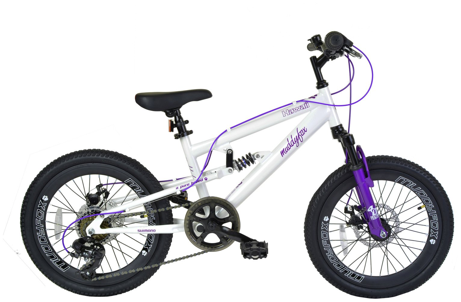 Muddyfox Hawaii 20 Inch Dual Suspension Kids Bike