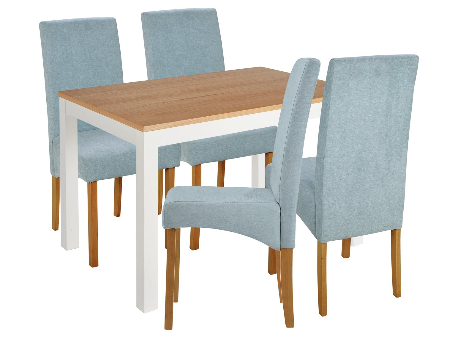 Image of Collection Clifton Two Tone Table & 4 Chairs - Duck Egg