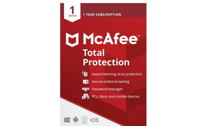 McAfee Total Protection 1 Year 1 User