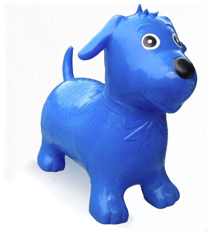 Image of HappyHopperz Inflatable Bouncer Dog - Blue.