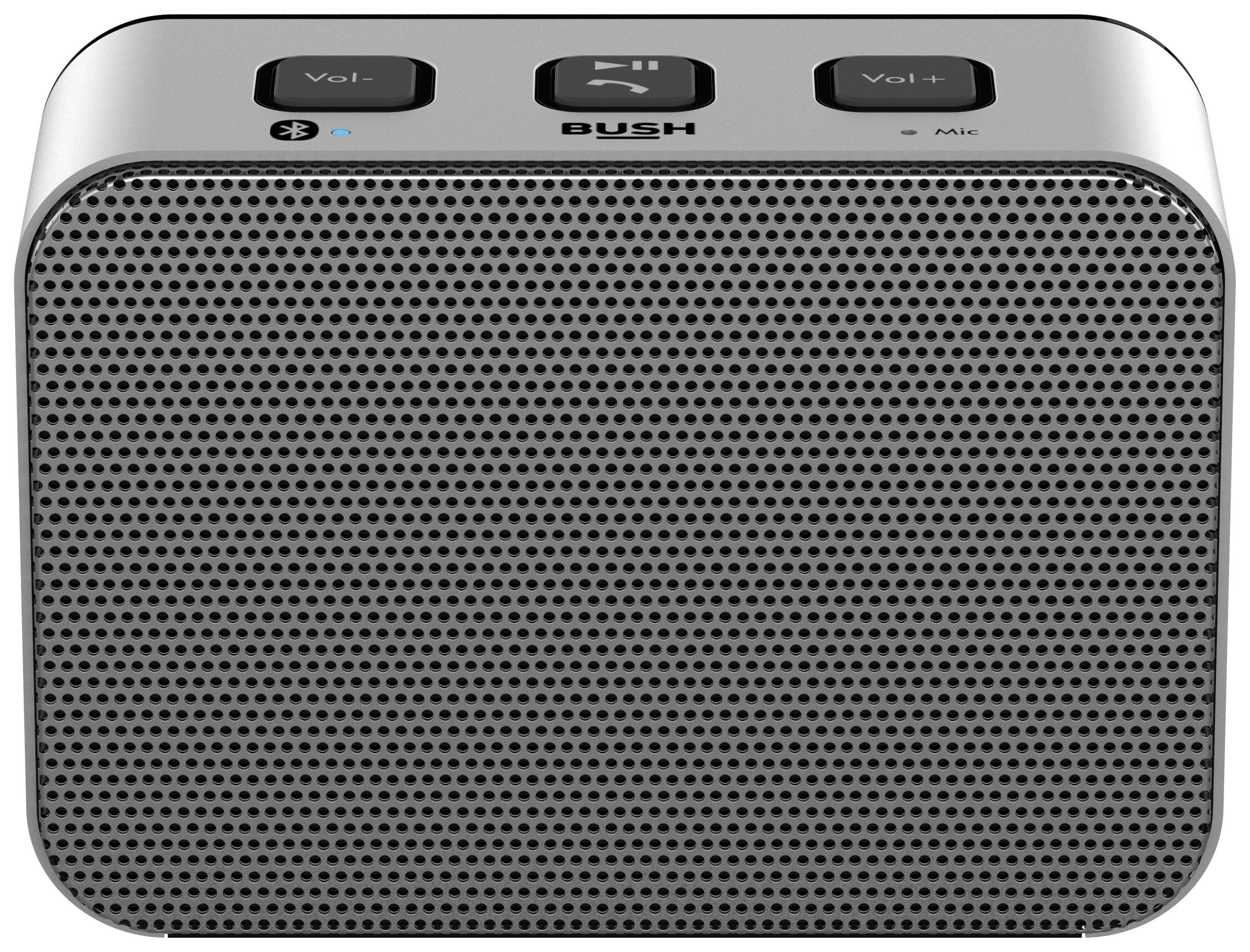 Bush Small Wireless Speaker - Silver