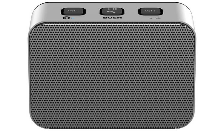 Bush Small Wireless Speaker - Silver