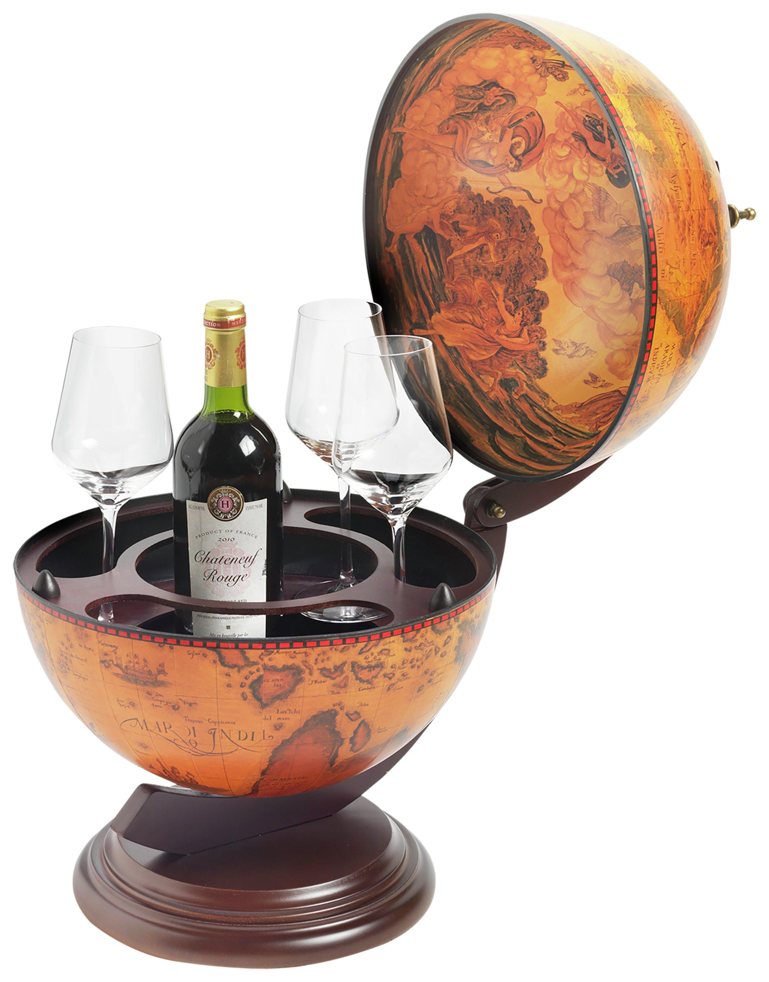 RTA 3 Bottle Table Top Globe Wine Bar