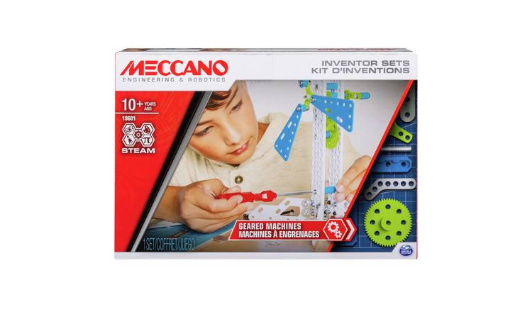 Meccano Inventors 3 Geared Machines Set