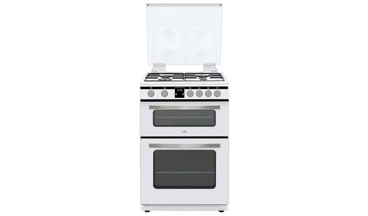 New World NWLS60DGW 60cm Double Gas Cooker - White