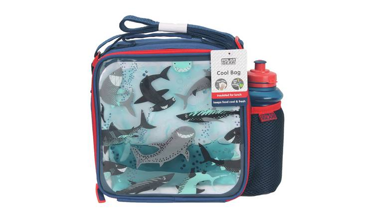 Shark Print Lunch Bag & Bottle - 450ml