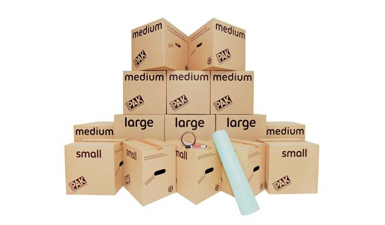 StorePAK Moving House Cardboard Storage Boxes - Set of 15