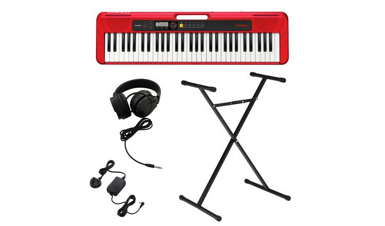 Casio CT-S200RD Keyboard, Stand & Headphone Bundle - Red