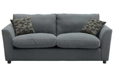 HOME Carter 3 Seater Fabric Sofa - Charcoal