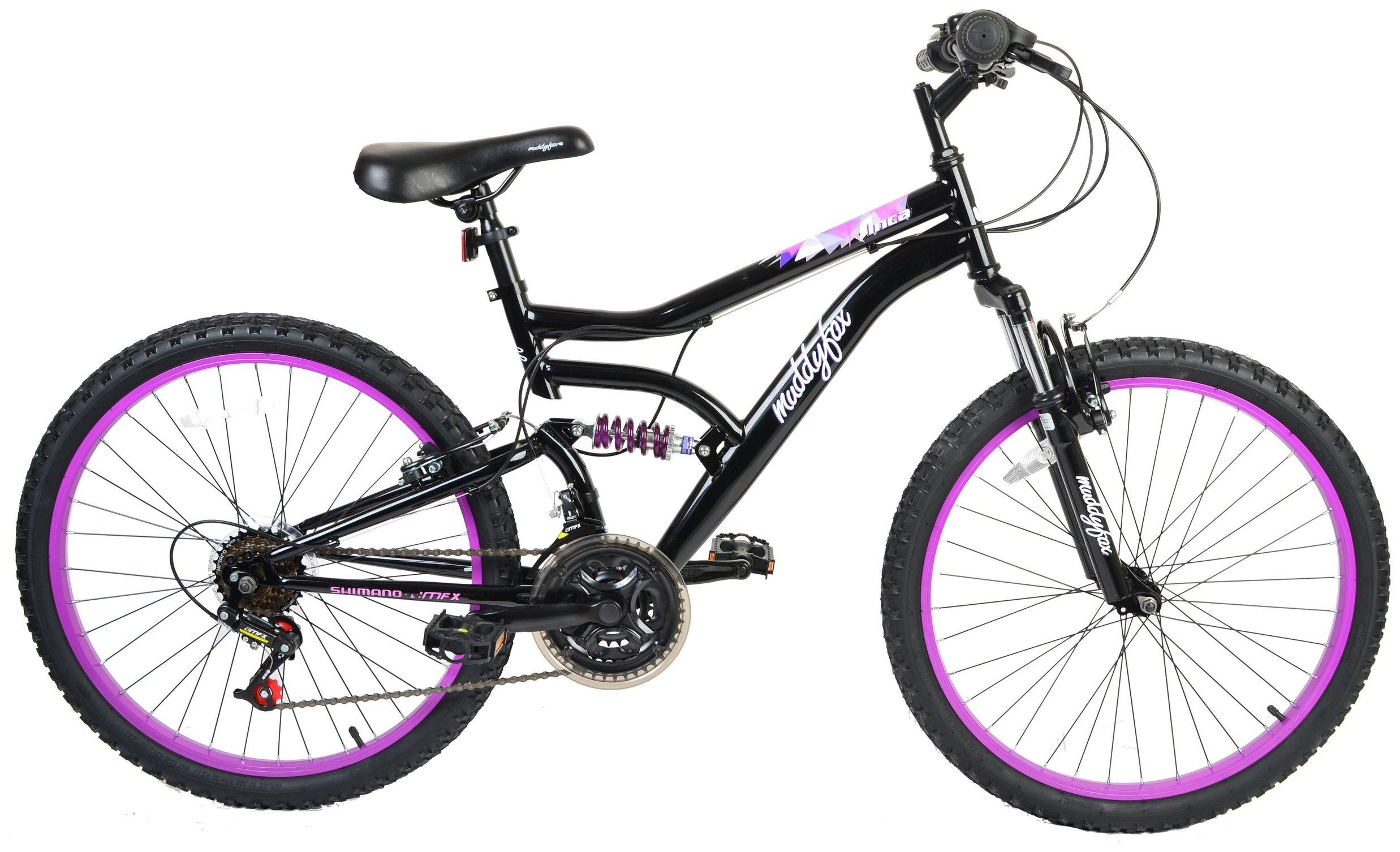 Muddyfox Inca 24 Inch Dual Suspension Kids Bike