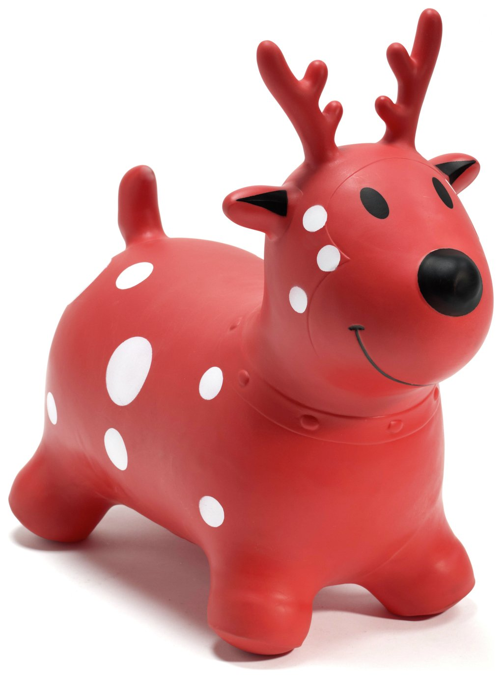 Image of HappyHopperz Inflatable Bouncer Deer - Red.
