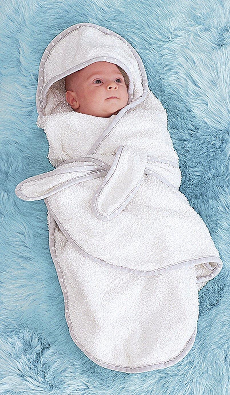 Little Chick Newborn Bath Swaddle Robe