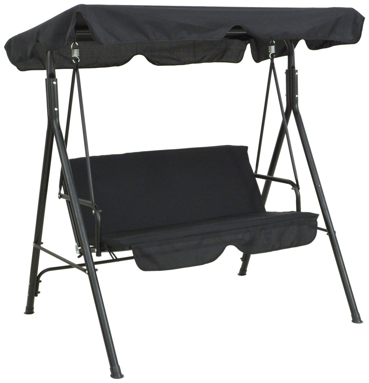 Argos Home Metal 2 Seater Garden Swing Chair - Black