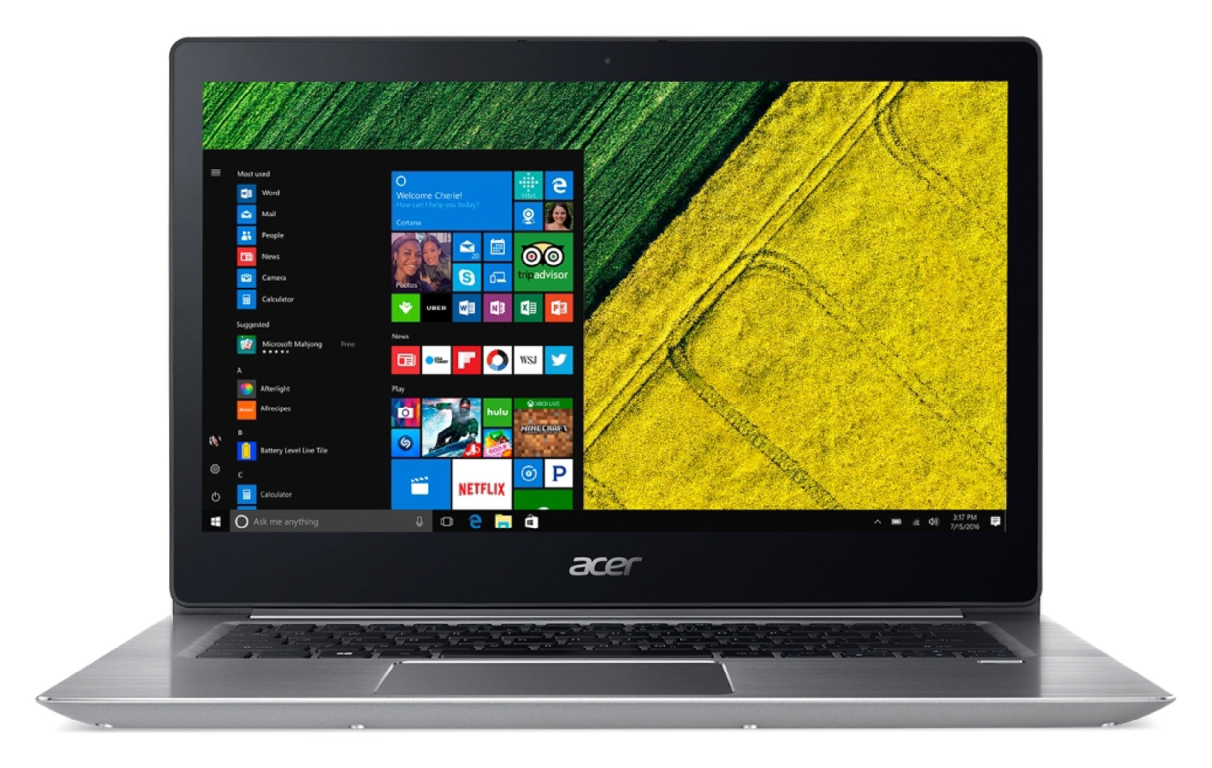Image of Acer Swift 14 Inch i5 8GB 256GB SSD Laptop - Silver