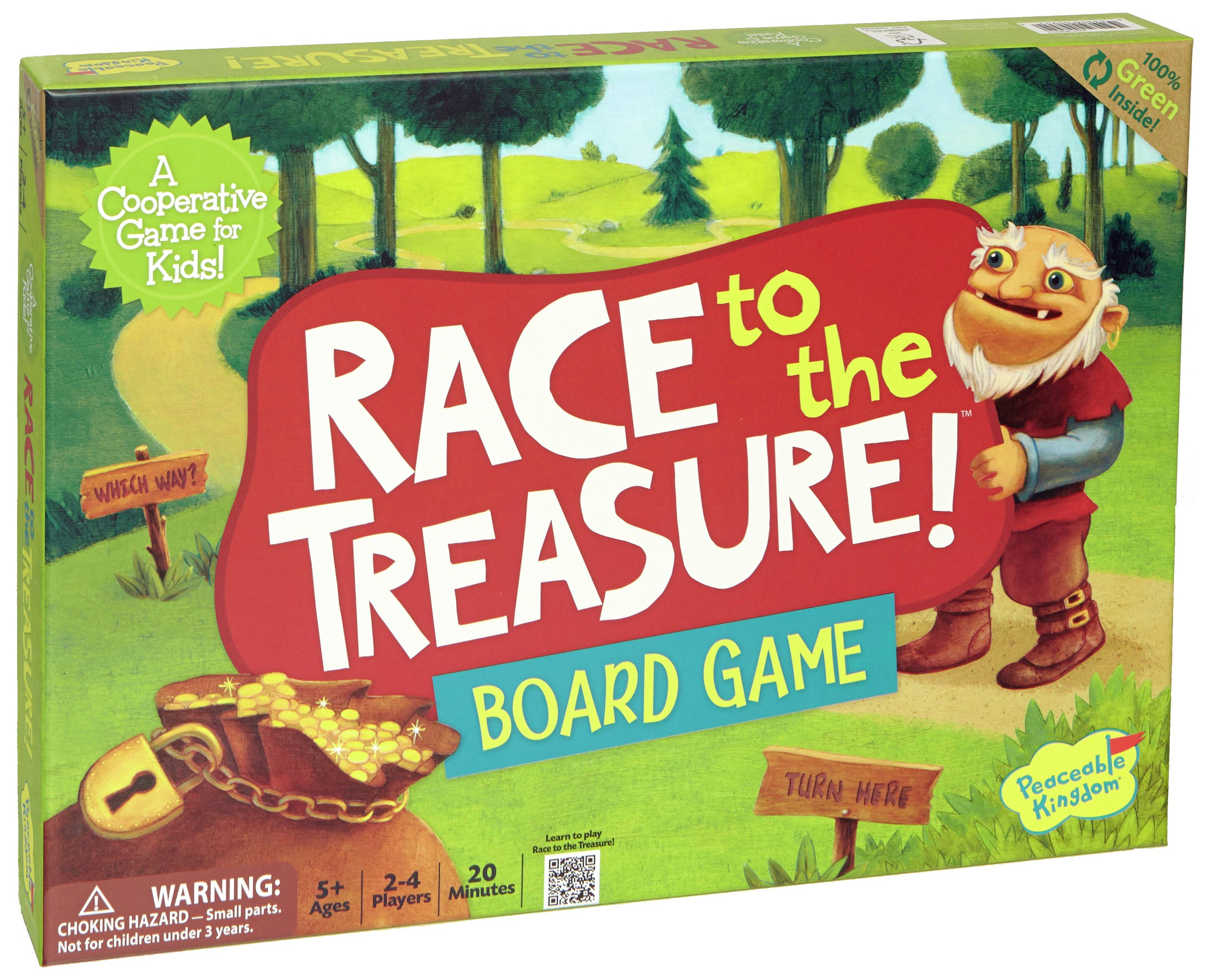 Peaceable Kingdom Race to the Treasure Game.