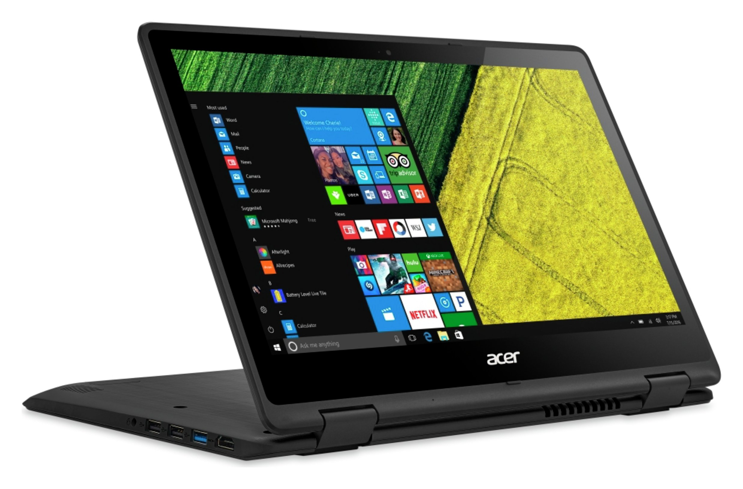 Image of Acer Spin 5 13 Inch i5 8GB 256GB SSD 2in1 Laptop - Black