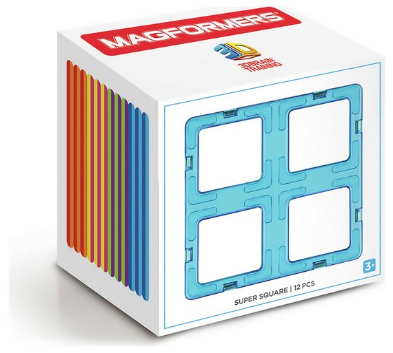 Buy Magformers Super Square Construction Set 12 Piece