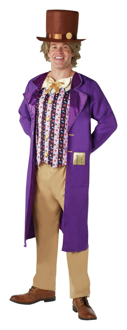 Willy Wonka Adult's Fancy Dress Costume - One Size