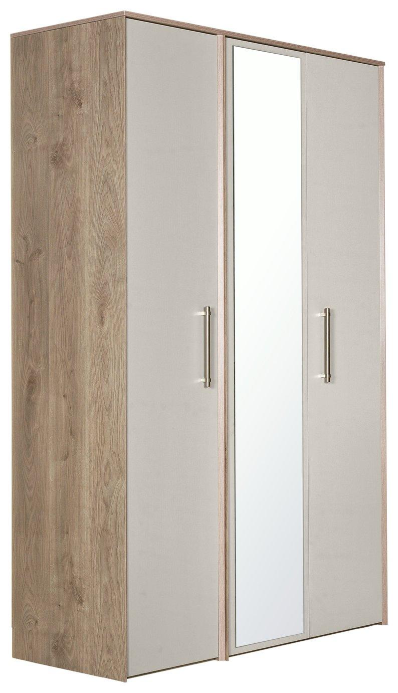 Victoria 3 Door Mirrored Wardrobe