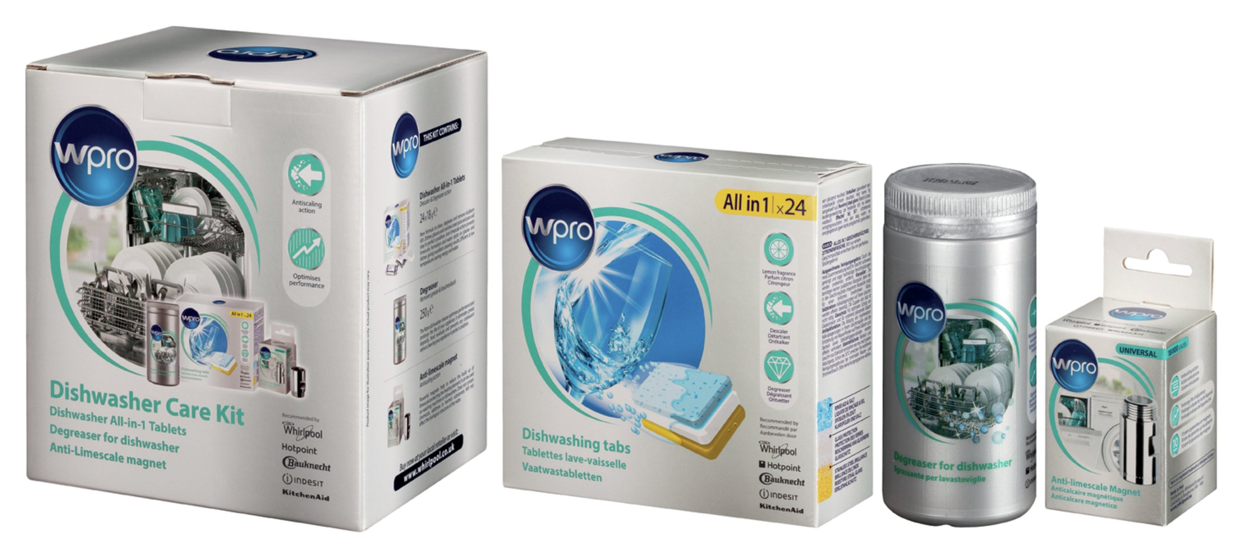 Image of Wpro Universal Dishwasher Care Kit