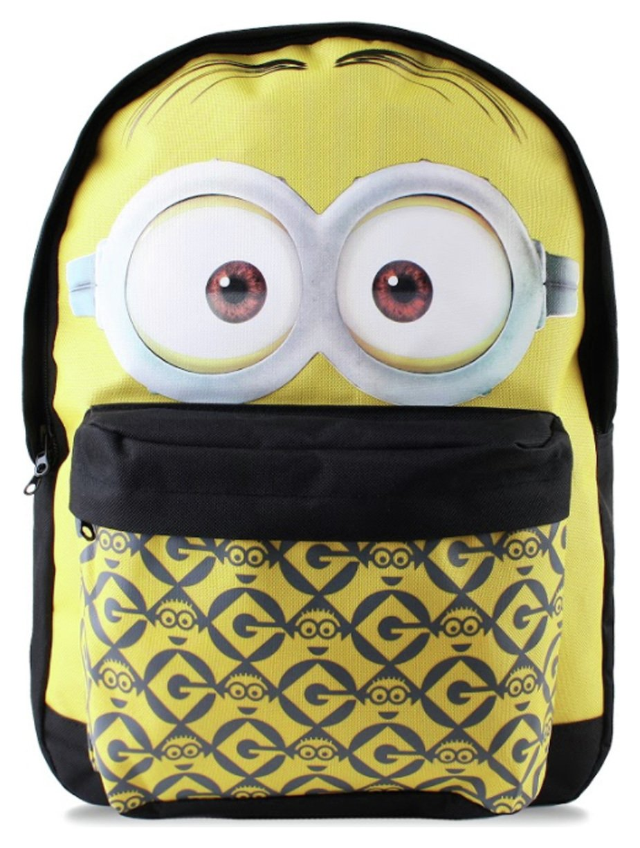 Minions Dave Face Backpack - Yellow