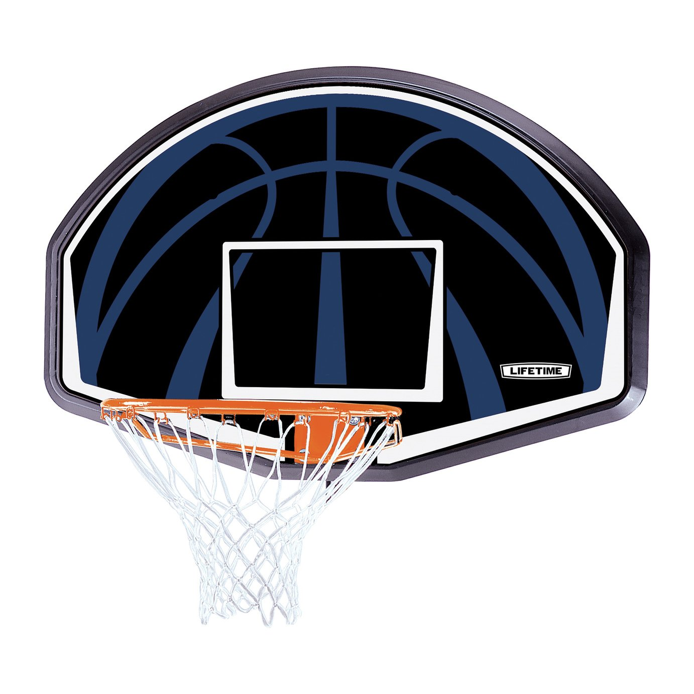 Lifetime Basketball Backboard and Rim System.