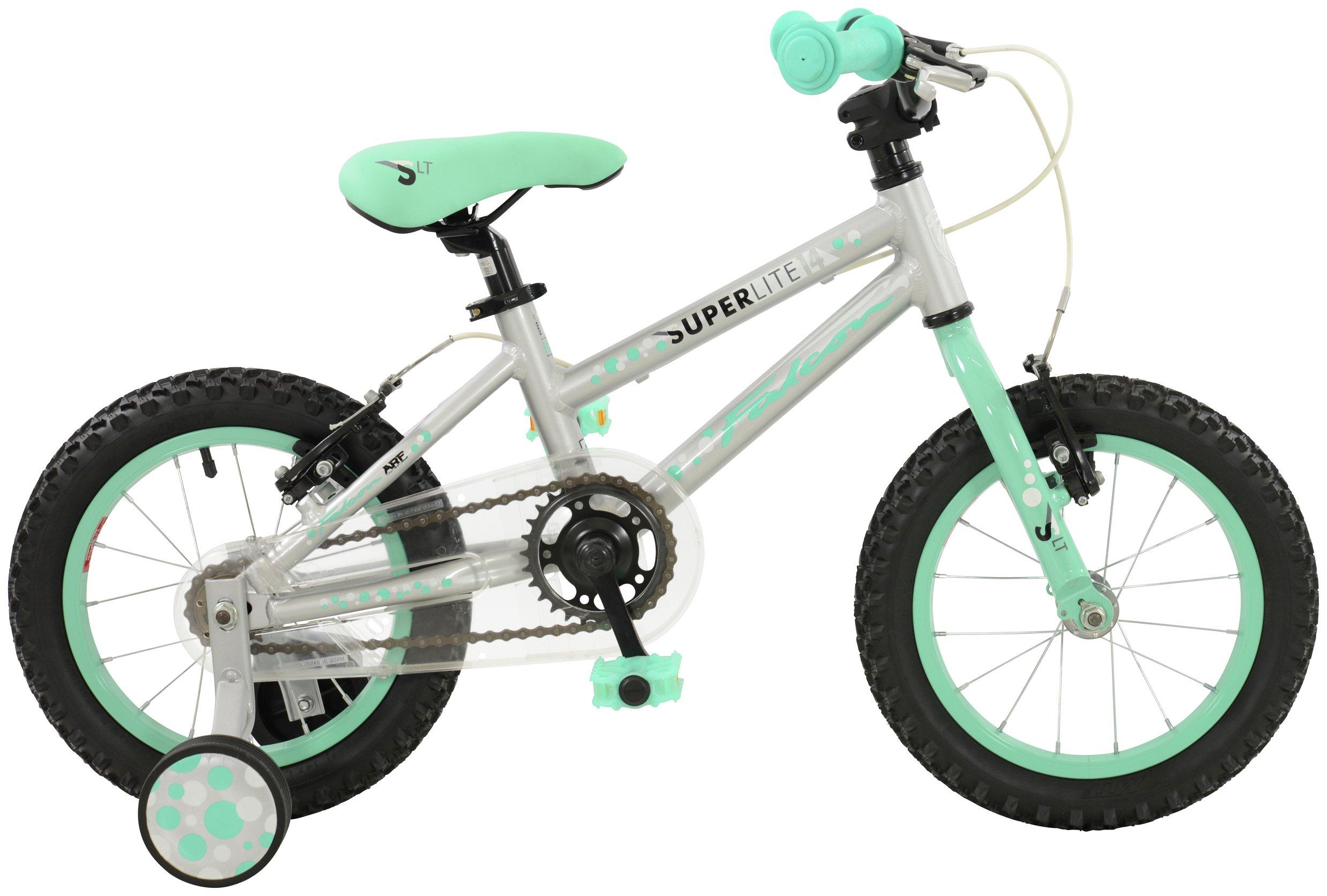 Image of Falcon Kids 14 Inch Alloy Superlite Bike - Mint Green