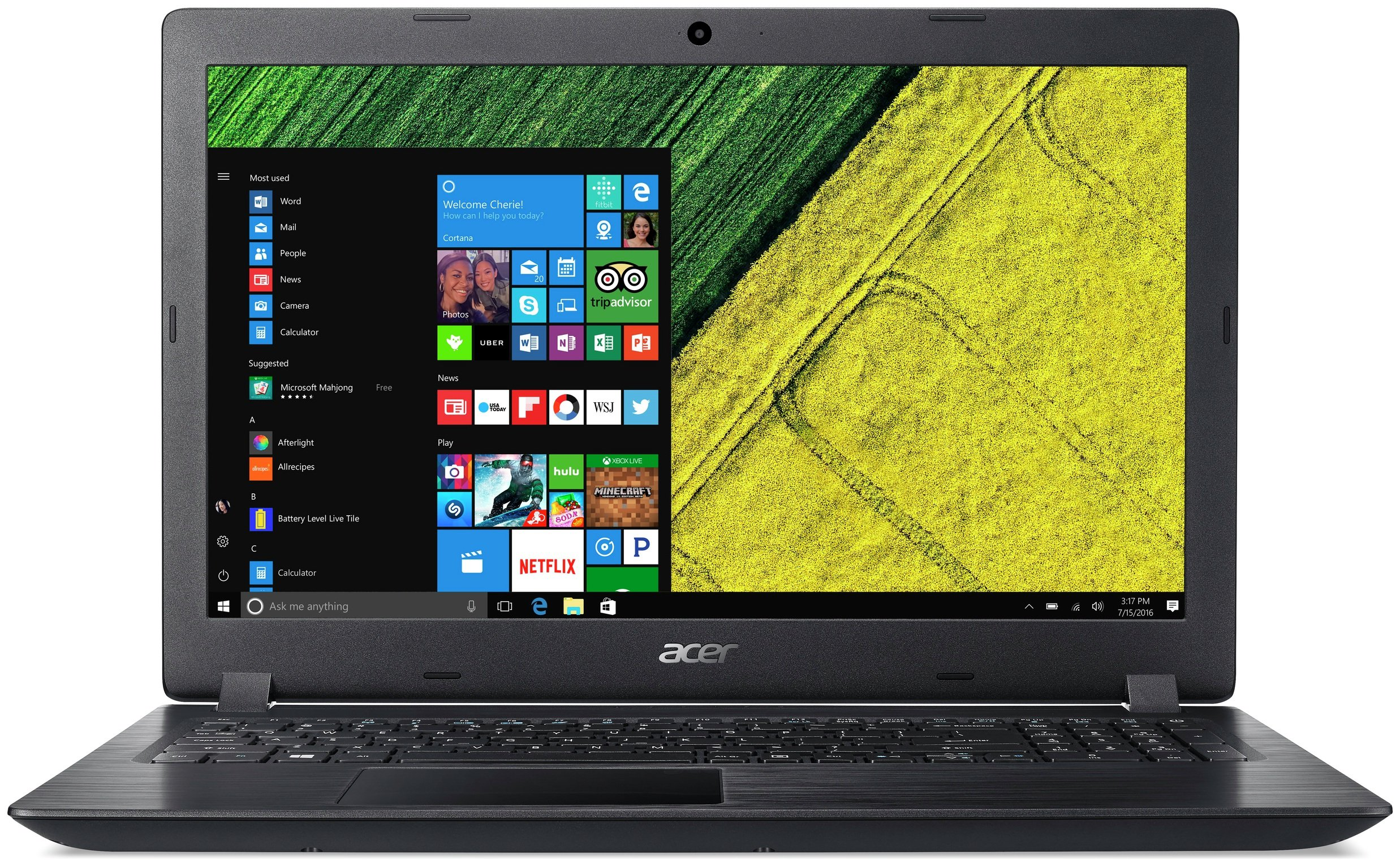 Acer 15.6 Inch i3 8GB 1TB Laptop - Black