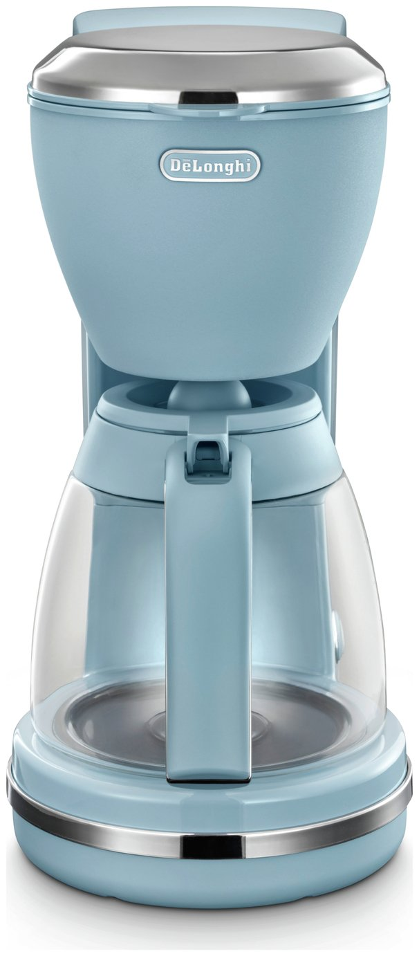 De'Longhi ICMX210AZ Argento Flora Filter Coffee Machine
