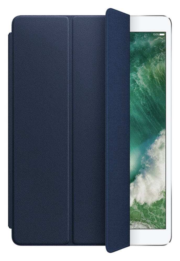 Image of Apple 10.5 Inch iPad Pro Leather Smart Cover - Midnight Blue