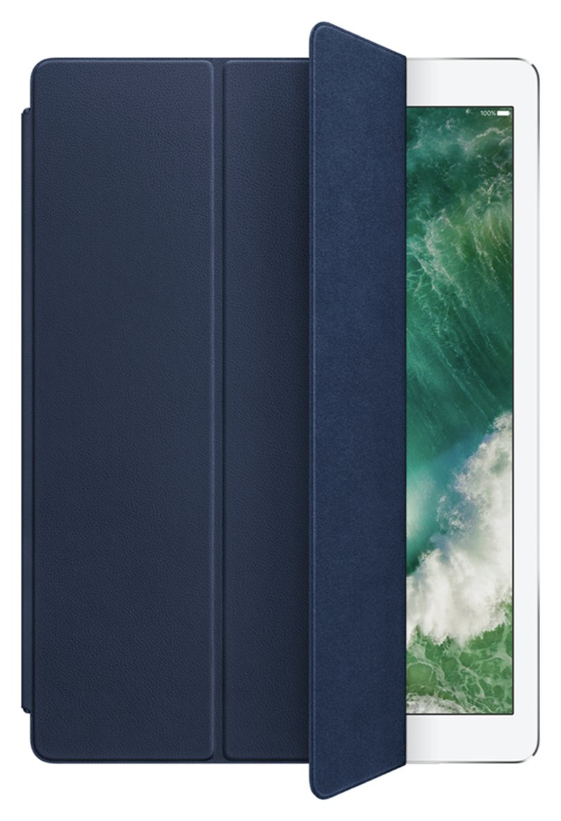 Image of Apple 12.9 Inch iPad Pro Leather Smart Cover - Blue