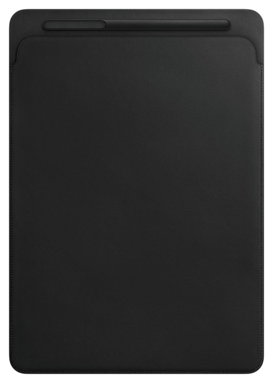 Image of Apple 12.9 Inch iPad Pro Leather Sleeve - Black